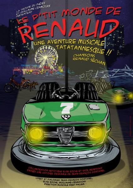"""Affiche """"Le P'tit Monde de Renaud"""""""