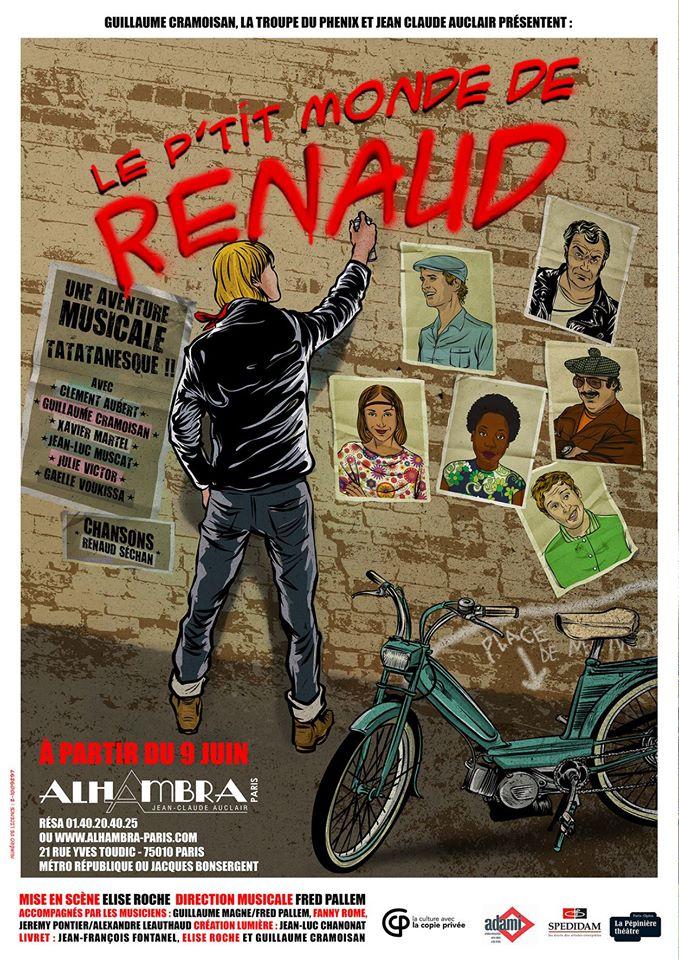 Affiche Le P'tit Monde de Renaud à l'Alhambra.